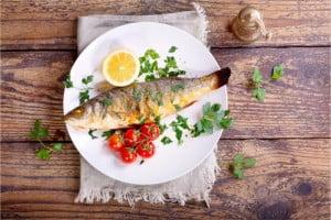 ryba dobrze wpłynie na nasze zdrowie.
