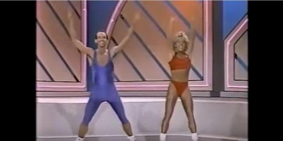 Niesamowity układ fitness z lat... 80 :)